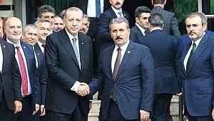 Cumhurbaşkanı Erdoğan'dan BBP'ye ziyaret sonrası ilk açıklama
