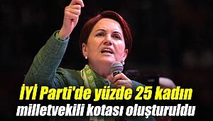 İYİ Parti'de yüzde 25 kadın milletvekili kotası oluşturuldu