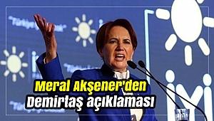 Meral Akşener'den Demirtaş açıklaması