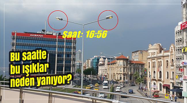 SAAT 16.56 AMA CADDEDEKİ TÜM IŞIKLAR YANIYOR!