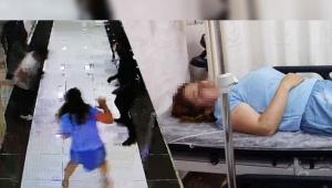 Adliyede skandal! Nezarethaneden kaçıp katibi darp etti
