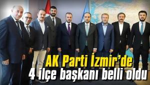 AK Parti İzmir'de 4 ilçe başkanı belli oldu