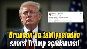 Rahip Brunson tahliyesinin ardından Trump açıklaması!