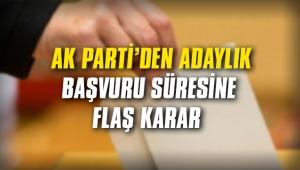 AK Parti adaylık başvuru süresinde yeni uzatma
