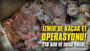 Buca'da sağlığa zararlı 216 kilo et imha edildi!