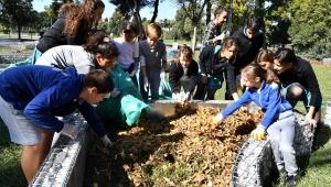 Çocuklar 'Topluluk Bahçesi' oluşturdu