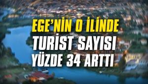 Ege'nin o ilinde turist sayısı yüzde 34 arttı