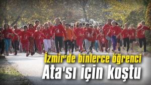 İzmir'de binlerce öğrenci Ata'sı için koştu