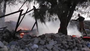 İzmir Foça'da patlama sesleri...