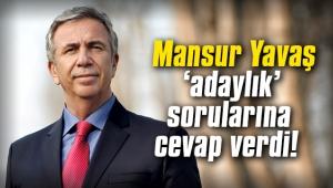 Mansur Yavaş 'adaylık' sorularına cevap verdi!