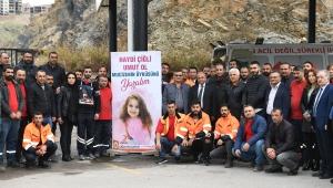 Minik Öykü Arin'e Çiğli Belediyesi çalışanlarından destek