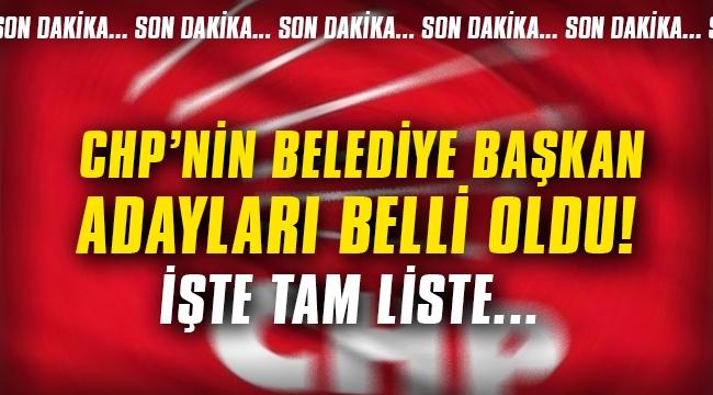 CHP'de belediye başkan adayları belli oldu! İşte tam liste...
