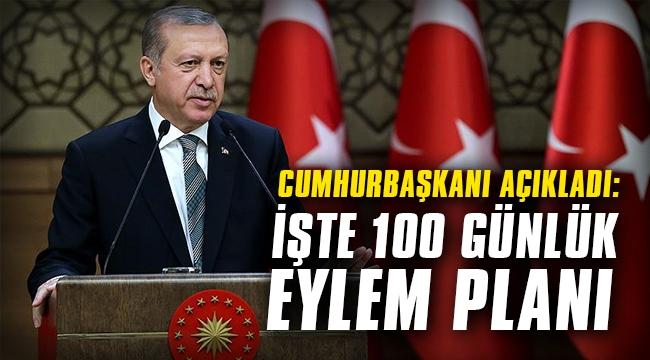 Cumhurbaşkanı açıkladı: İşte 100 günlük eylem planı...