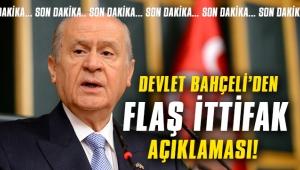 Devlet Bahçeli'den flaş ittifak açıklaması!