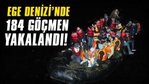 Ege Denizi'nde 184 göçmen yakalandı!