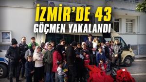 İzmir'de 43 göçmen yakalandı