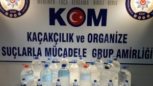 İzmir'de sahte rakı operasyonu