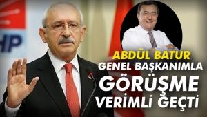 Abdül Batur: Genel Başkanımla görüşme verimli geçti