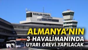 Almanya'nın 3 havalimanında uyarı grevi yapılacak