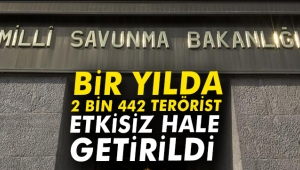 Bir yılda 2 bin 442 terörist etkisiz hale getirildi