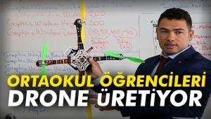 Ortaokul öğrencileri drone üretiyor