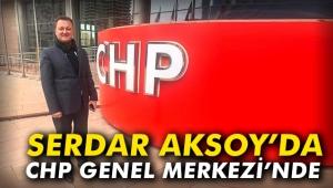 Serdar Aksoy'da CHP Genel Merkezi'nde