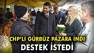 CHP'li Gürbüz pazara indi, destek istedi