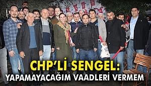 CHP'li Sengel: Yapamayacağım vaadleri vermem