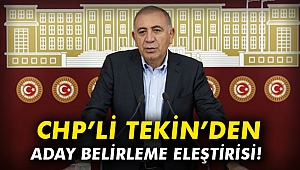 CHP'li Tekin'den aday belirleme eleştirisi