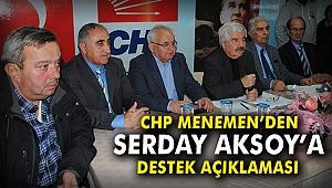 CHP Menemen'den Serdar Aksoy'a destek açıklaması