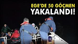 Ege'de 50 göçmen yakalandı