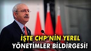 İşte CHP'nin yerel yönetimler bildirgesi!