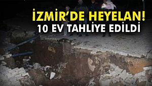 İzmir'de heyelan! 10 ev tahliye edildi