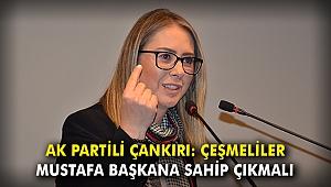 AK Partili Çankırı: Çeşmeliler Mustafa Başkana sahip çıkmalı