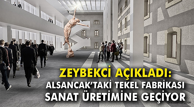 """Alsancak'taki tekel fabrikası, """"sanat üretimi""""ne geçiyor"""