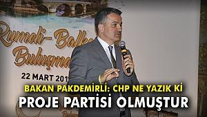 Bakan Pakdemirli: CHP ne yazık ki proje partisi olmuştur