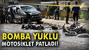 Bomba yüklü motosiklet patladı: 8 sivil yaralandı