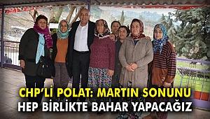 CHP'li Polat: Martın sonunu hep birlikte bahar yapacağız
