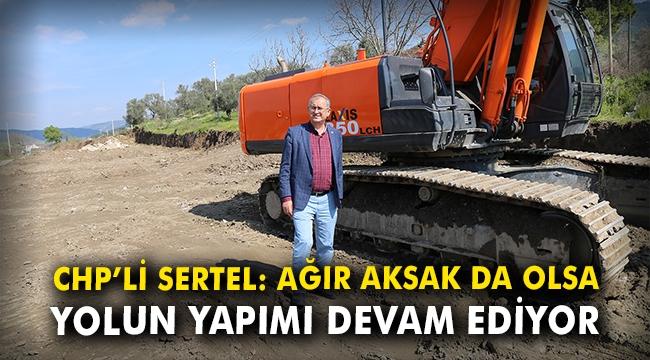 CHP'li Sertel: Ağır aksak da olsa yolun yapımı devam ediyor
