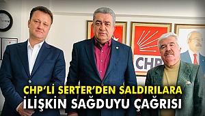 CHP'li Serter'den saldırılara ilişkin sağduyu çağrısı