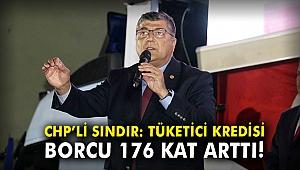 CHP'li Sındır: Tüketici kredisi borcu 176 kat arttı!