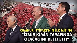 Cumhur İttifakı'nın ilk mitingi: