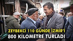 Zeybekci, 110 günde İzmir'i 800 kilometre turladı