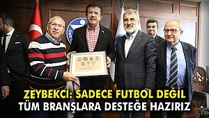 Zeybekci: Sadece futbol değil tüm branşlara desteğe hazırız
