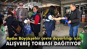 Aydın Büyükşehir çevre duyarlığı için alışveriş torbası dağıtıyor