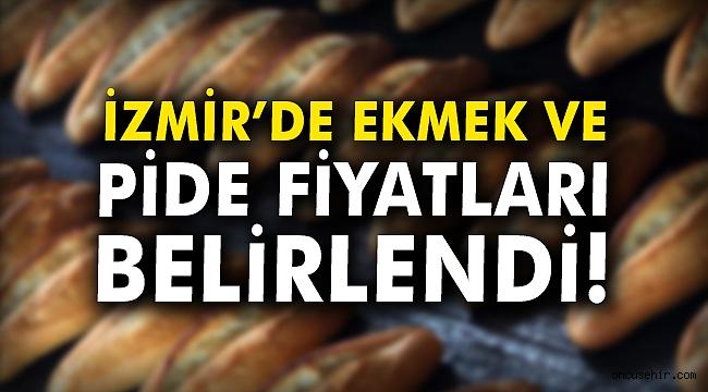 İzmir'de ekmek ve pide fiyatları belirlendi!