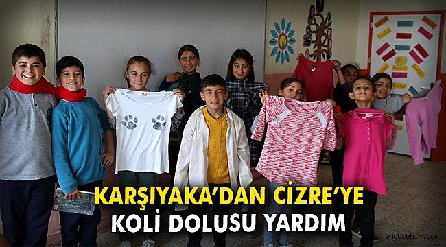 Karşıyaka'dan Cizre'ye koli dolusu yardım