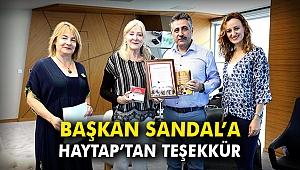 Başkan Sandal'a HAYTAP'tan teşekkür