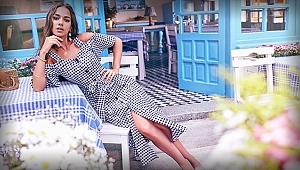 Elbise Kampanyası için Alaçatı Sokaklarını Fethetti