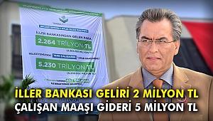 İller Bankası geliri 2 milyon TL, çalışan maaşı gideri 5 milyon TL